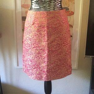 J.Crew Collection Pink Silk Blend Pencil Skirt | 0